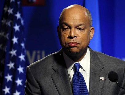Department of Homeland Security Secretary Jeh Johnson delivers a speech in Washington February 7, 2014 file photo. REUTERS/Gary Cameron