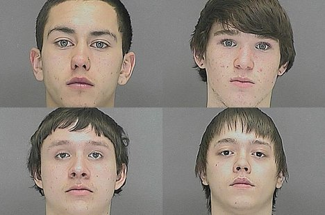 Clockwise from upper left: Royce Bressette, Tyle Brickham-VanVorce, Cory Mayer, Sergio Rivera. (Photo from: Brown County Sheriff's Office)