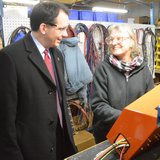 Governor Scott Walker at Northstar Fabricating in Rhinelander  Photo: Ken Krall-WXPR