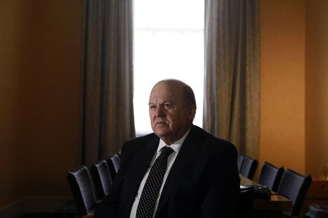 Ireland's Finance Minister Michael Noonan attends an interview with Reuters at his office in central Dublin February 11, 2014. REUTERS/Catha