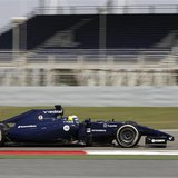 Williams Formula One driver Felipe Massa of Brazil drives his car during day three of Formula One's final pre-season test at Bahrain Interna