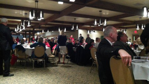 Hundreds turned out at Pines West for the annual republican event. Many prominent officials, including Speaker Jace Bolger of Marshall and Secretary of State Ruth Johnson were also on hand.
