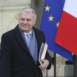 French Prime Minister Jean-Marc Ayrault leaves the weekly cabinet meeting at the Elysee Palace in Paris February 26, 2014. REUTERS/Jacky Nae