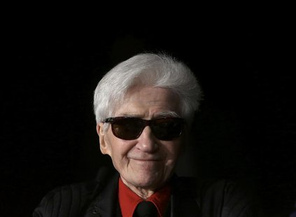 "Director Alain Resnais attends a photocall for the film ""Vous n'Avez Encore Rien Vu"", in competition at the 65th Cannes Film Festival, in th"