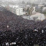 Ultra-Orthodox Jewish men take part in a mass prayer in Jerusalem March 2, 2014. REUTERS/Darren Whiteside