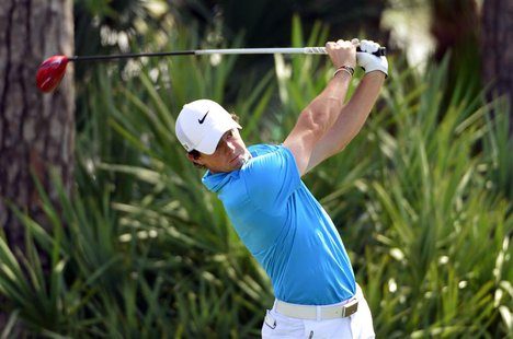Mar 2, 2014; Palm Beach Gardens, FL, USA; Rory McIlroy on the 2nd tee during the final round of The Honda Classic golf tournament at PGA Nat