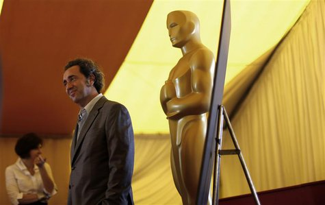 "Italian director Paolo Sorrentino of ""The Great Beauty"" poses during the 86th Academy Awards foreign film nominee preview at the Dolby Theat"