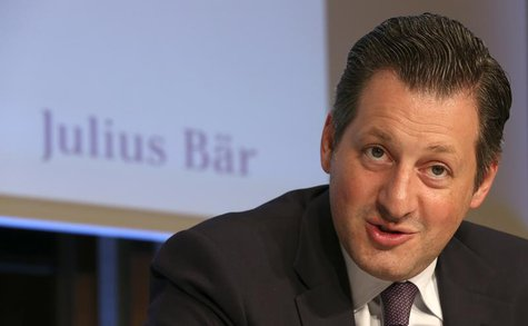 Chief Executive Boris Collardi of Swiss private bank Julius Baer addresses a news conference to present the bank's half-year results in Zuri