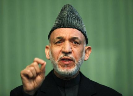 Afghan President Hamid Karzai speaks during a news conference in Kabul January 25, 2014 FILE PHOTO. CREDIT: REUTERS/MOHAMMAD ISMAIL