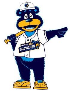 The new mascot for the Kalamazoo Growlers.