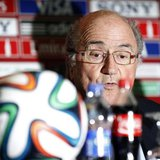 FIFA President Sepp Blatter speaks during a news conference at the Club World Cup soccer tournament in Marrakech December 19, 2013. REUTERS/