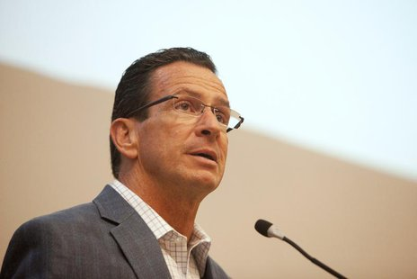 Connecticut Governor Dannel P. Malloy addresses the Marching On conference on gun violence prevention in Middletown, Connecticut September 2