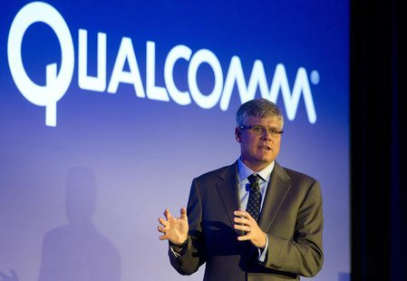 Steve Mollenkopf, CEO of Qualcomm, responds to a question during the 2014 Consumer Electronics Show (CES) in Las Vegas, Nevada, January 6, 2