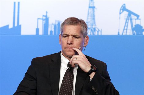 Russ Girling, chief executive of TransCanada Corp, waits to speak at the annual IHS CERAWeek conference in Houston, Texas March 4, 2014. REU