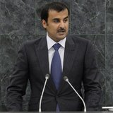 Sheikh Tamim bin Hamad Al-Thani, Amir of the State of Qatar, addresses the 68th United Nations General Assembly at UN headquarters in New Yo