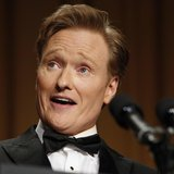 Comedian Conan O'Brien speaks at the White House Correspondents Association Dinner in Washington April 27, 2013. REUTERS/Kevin Lamarque