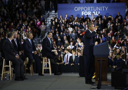 U.S. President Barack Obama delivers remarks on raising the minimum wage at Central Connecticut State University in New Britain, Connecticut