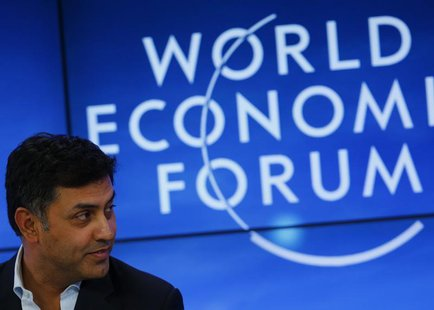 Nikesh Arora , Senior Vice-President and Chief Business Officer of Google attends a session at the annual meeting of the World Economic Foru