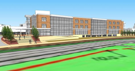 City Hall design (view from east side along Second Street)