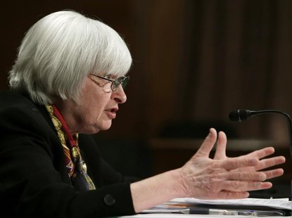 U.S. Federal Reserve Board Chair Janet Yellen testifies before the Senate Banking Housing and Urban Affairs Committee on Capitol Hill in Was