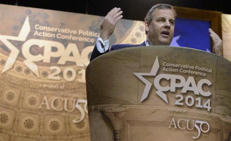 New Jersey Gov. Chris Christie makes remarks to the Conservative Political Action Conference (CPAC) in Oxon Hill, Maryland, March 6, 2014. R
