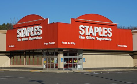 A Staples retail location,