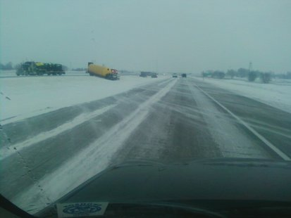 KFGO's Al Aamodt counted 14 vehicles in the ditch along 52nd Avenue South to County Road 14