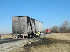 3-6-14 semi fire  pic provided by Indiana State Police