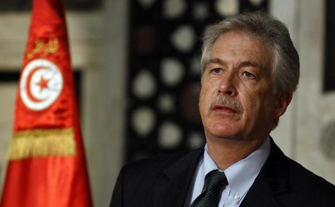 U.S. Deputy Secretary of State Bill Burns addresses a news conference in Tunis February 1, 2014. REUTERS/Zoubeir Souissi