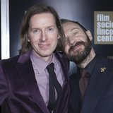 "Cast member Ralph Fiennes and director Wes Anderson (L) arrive for the premiere of ""The Grand Budapest Hotel"" in New York February 26, 2014."