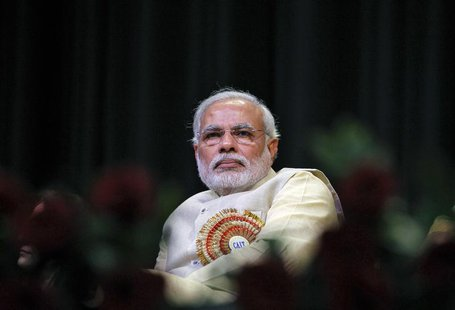 Hindu nationalist Narendra Modi, prime ministerial candidate for India's main opposition Bharatiya Janata Party (BJP) and Gujarat's chief mi