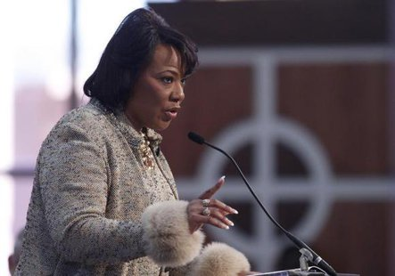Dr. Bernice King, daughter of slain civil rights leader Martin Luther King, Jr., and CEO of the King Center speaks during the Martin Luther King, Jr. 46th Annual Commemorative Service in Atlanta, Georgia, January 20, 2014.