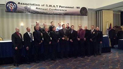 S.W.A.T. teams receive award  Photo: Waupaca County Sheriff's Dept.