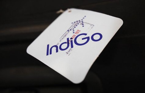An IndiGo Airlines cabin baggage security check tag is pictured on a passenger's luggage at Bengaluru International Airport in Bangalore Mar