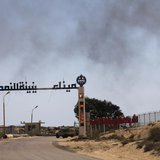 The entrance to Zueitina oil terminal is seen in Zueitina, about 120 km (75 miles) west of Benghazi July 18, 2013. REUTERS/Esam Omran Al-Fet