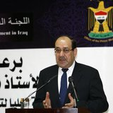 Iraq's Prime Minister Nouri al-Maliki speaks during opening ceremony of the Center for Development Education in Baghdad, March 1 2014. REUTE