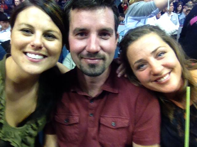 Jess Kelley, Charli's husband Ryan and Charli at George Strait.