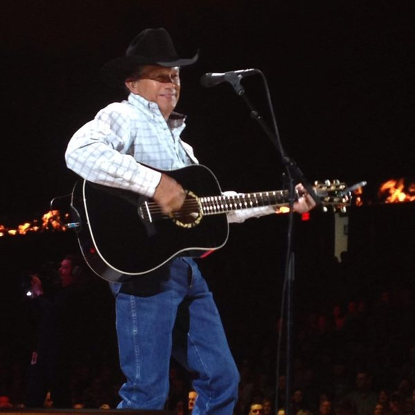 George Strait with that million dollar smile.