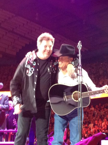 Vince Gill and George Strait at Allstate Arena in Rosemont, IL