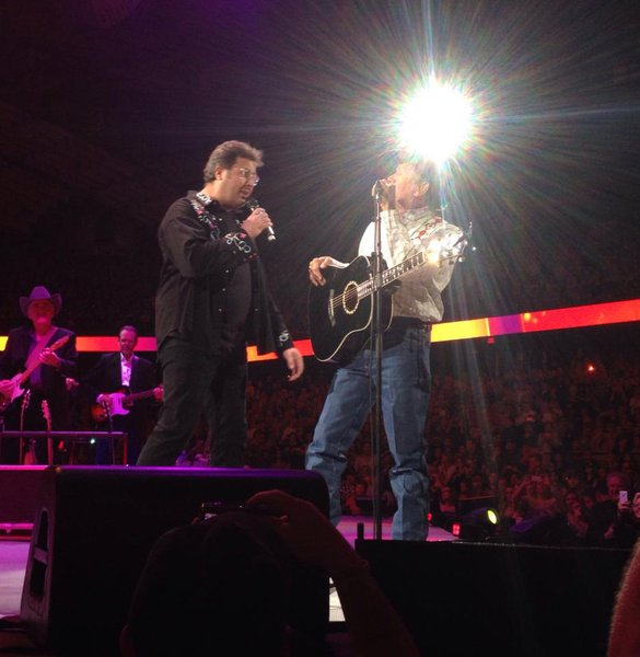 Vince Gill and George Strait