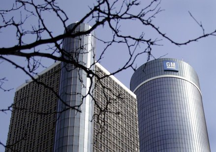 The General Motors world headquarters is seen in downtown Detroit, Michigan May 31, 2009. REUTERS/Rebecca Cook