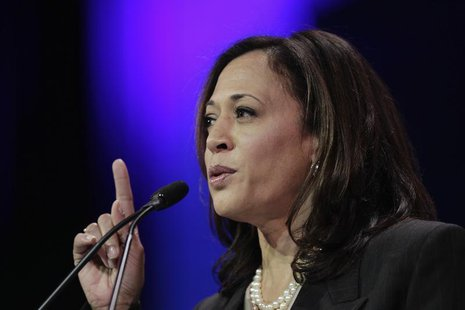 Attorney General Kamala D. Harris speaks at the 2014 California Democrats State Convention at the Los Angeles Convention Center in Los Angel