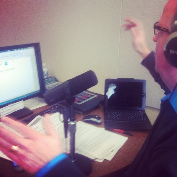 Behind the scenes of The Jerry Bader Show - Jerry disagrees with a caller