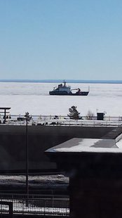 USCG Cutter Alder breaking ice