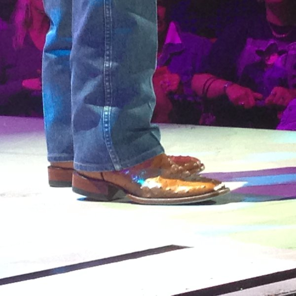 Those are some awesome boots George Strait wears