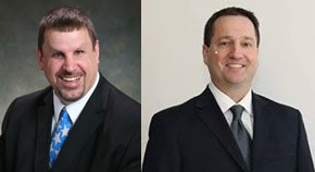 Mayor Randy Meyer (left) and Alderman Dan Krueger (right).