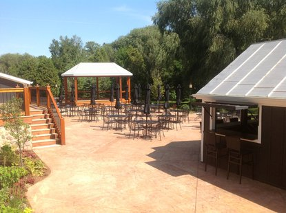 A view of the patio area at The Blind Horse.