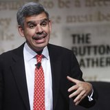 Mohamed El-Erian, chief executive office and co-chief investment officer of PIMCO, speaks during The Economist's Buttonwood Gathering in New