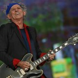 Keith Richards of the Rolling Stones performs at the British Summer Time Festival in Hyde Park in London July 6, 2013. REUTERS/Luke MacGrego