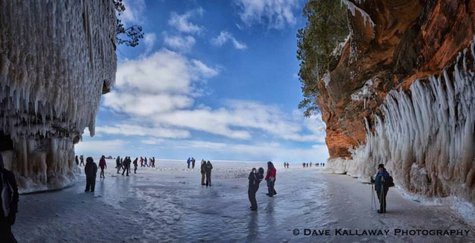 Ice Caves at Apostle Islands National Lakeshore 2014  Photo: Dave Kallaway Photography